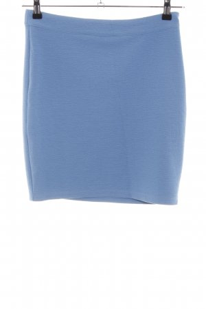 Vila Stretchrock blau Allover-Druck Casual-Look
