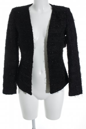 Vila Blazer en maille tricotée noir moucheté style décontracté