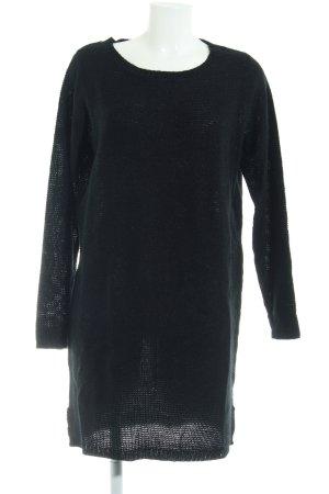 Vila Abito di maglia nero Motivo a maglia leggera elegante