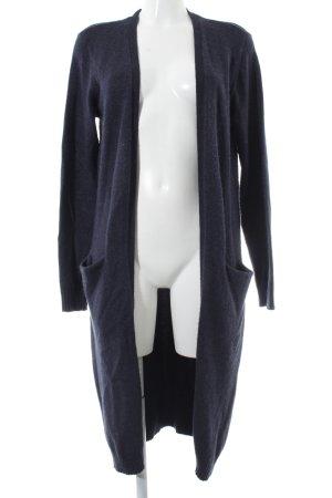Vila Manteau en tricot bleu foncé style décontracté