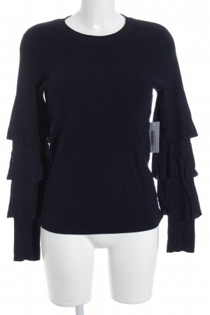 Vila Knitted Sweater dark blue layered look