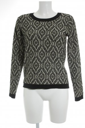 Vila Strickpullover grafisches Muster Street-Fashion-Look