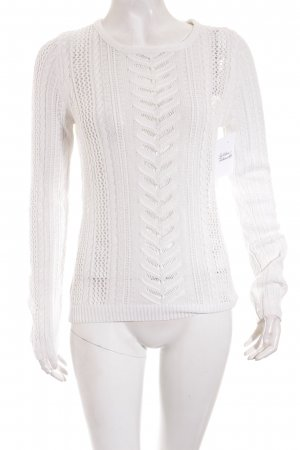 Vila Knitted Sweater white casual look