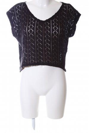 Vila Knitted Jumper black allover print casual look