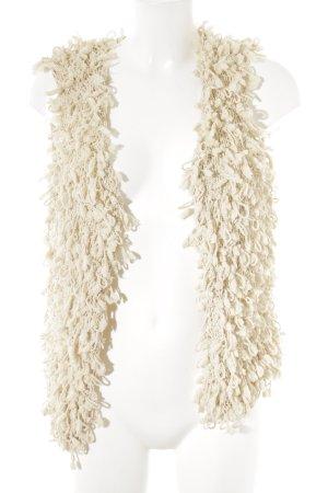 Vila Smanicato lavorato a maglia crema stile casual
