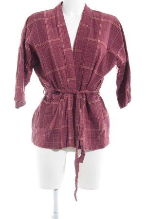 Vila Smanicato lavorato a maglia rosso scuro motivo a righe stile casual