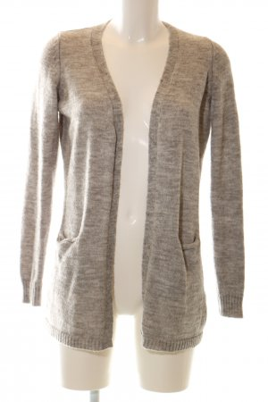 Vila Knitted Wrap Cardigan brown-natural white flecked casual look