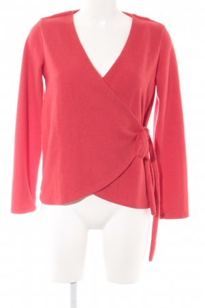 Vila Knitted Wrap Cardigan red casual look