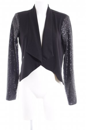Vila Sweatblazer schwarz-anthrazit Casual-Look