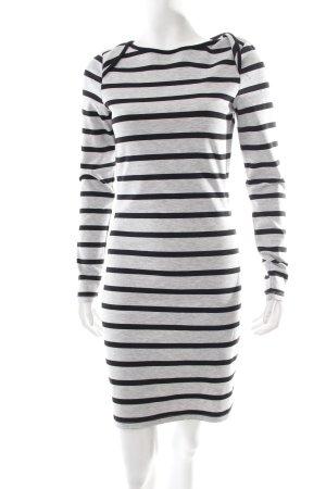 Vila Sweatkleid grau-schwarz Streifenmuster minimalistischer Stil