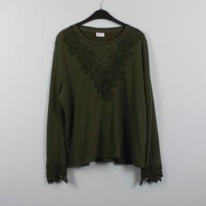VILA Sweatshirt Gr. L dunkelgrün Spitze (18/11/155)