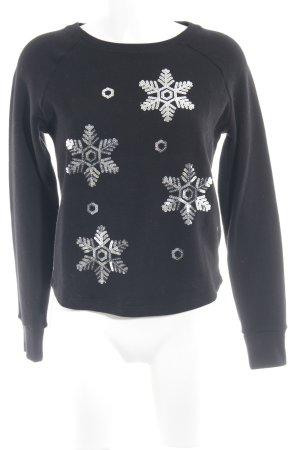 Vila Sweatshirt schwarz Casual-Look