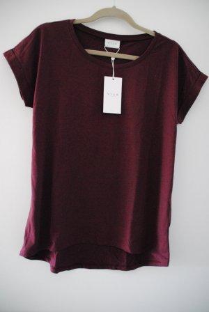 VILA T-Shirt bordeaux Größe S