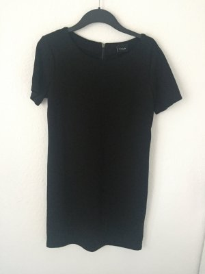 Vila T Shirt Kleid Schwarz