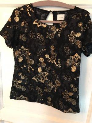 Vila T-Shirt schwarz / gold Gr. S