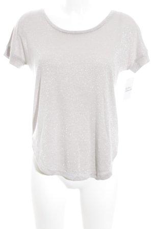 Vila T-Shirt silberfarben Glitzer-Optik
