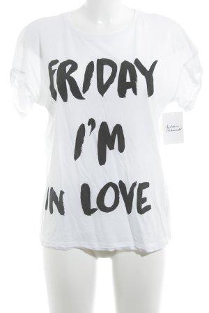 Vila T-Shirt weiß-schwarz Casual-Look