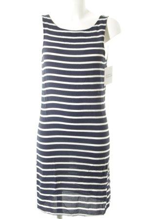 Vila Trägerkleid dunkelblau-weiß Streifenmuster schlichter Stil