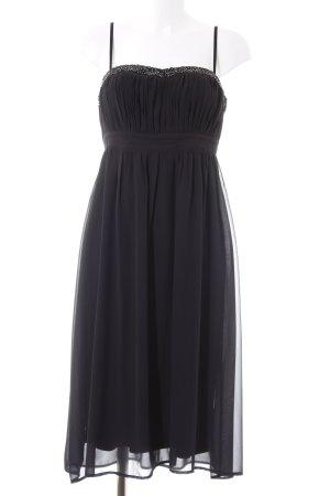 Vila Trägerkleid schwarz-silberfarben Elegant