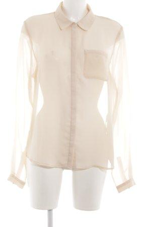 Vila Transparenz-Bluse creme klassischer Stil