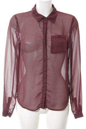 Vila Transparenz-Bluse rot klassischer Stil