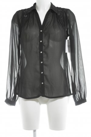 Vila Transparent Blouse black street-fashion look