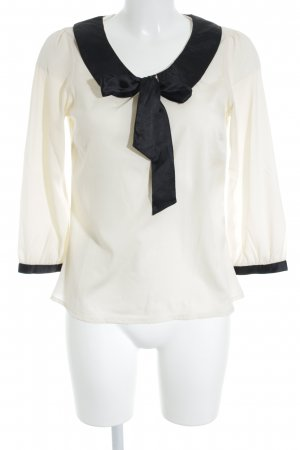 Vila Transparent Blouse black-natural white elegant