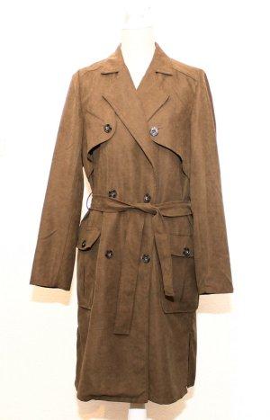 Vila Trenchcoat Mantel Jacke L 40 khaki grün