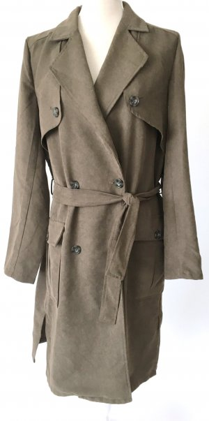 * vila * Trenchcoat Virant Jacke Mantel L 40 khaki grün