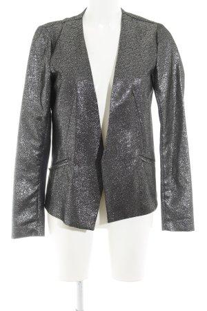 Vila Tweed Blazer silver-colored-black flecked glittery