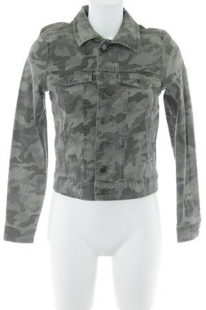 Vila Übergangsjacke grüngrau-khaki Camouflagemuster Used-Optik
