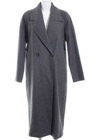 Vila Between-Seasons-Coat grey flecked simple style