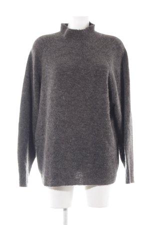 Vila V-Neck Sweater dark grey casual look