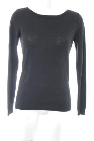 Vila V-Ausschnitt-Pullover schwarz Casual-Look