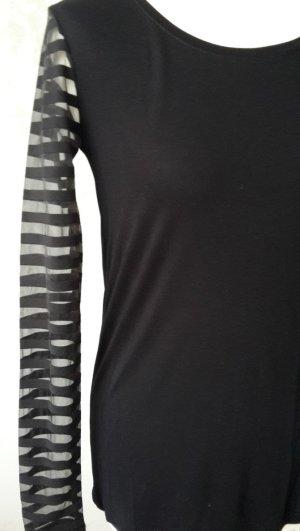 VILA Viskose-Shirt mit halbtransparenten Ärmeln u. Schulterpartie S * Ungetragen