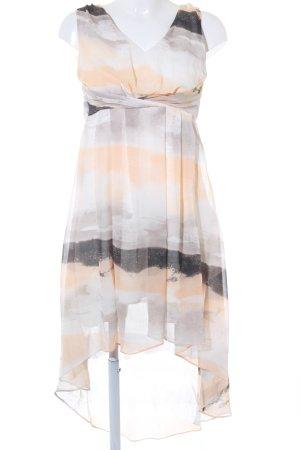 Vila Jurk met langere achterkant abstract patroon romantische stijl
