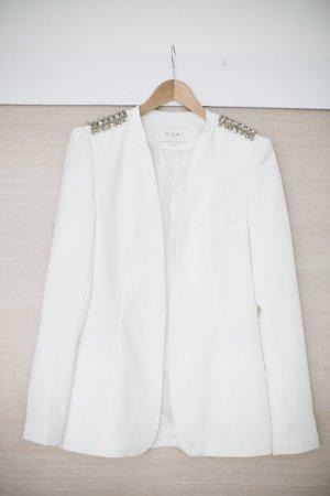 VILA weißer Blazer mit Nieten