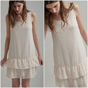 Vila Dress cream-nude