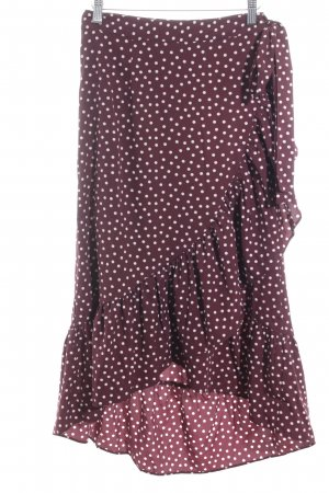 Vila Jupe portefeuille violet-blanc motif de tache élégant