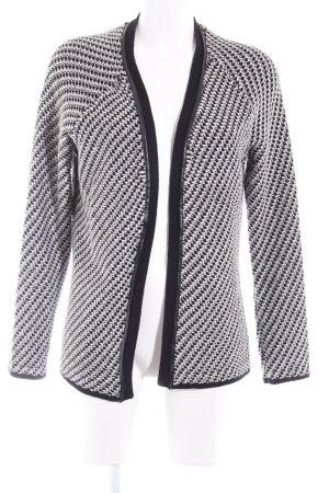 Vila Wollen Jack zwart-wolwit pied-de-poule patroon simpele stijl