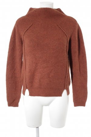 Vila Wollpullover rostrot Casual-Look