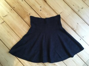 Vila Wool Skirt dark blue