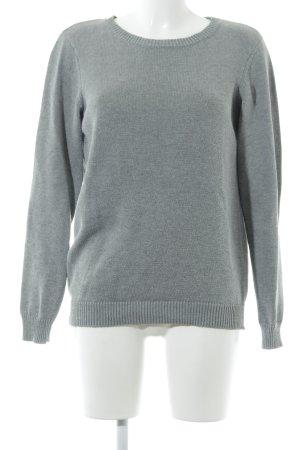 Villa Kraagloze sweater grijs klassieke stijl