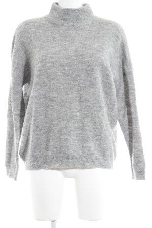 Villa Kraagloze sweater lichtgrijs casual uitstraling