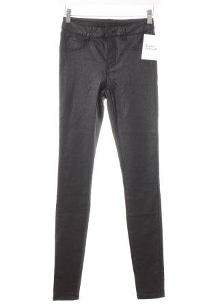 Villa Skinny Jeans schwarz Glanz-Optik