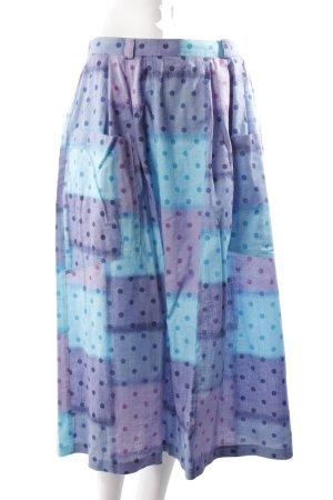Vilona vintage pleated skirt dot pattern