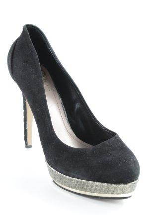 Vince Camuto High Heels schwarz-goldfarben extravaganter Stil