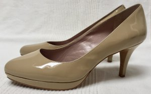 Vince Camuto Platform Pumps beige-camel leather