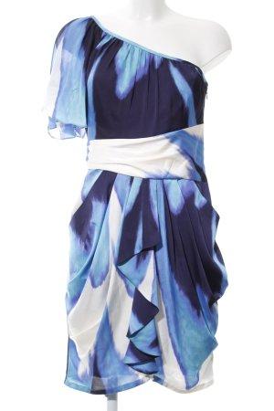 Vince Camuto Vestido de un hombro azul-blanco look casual
