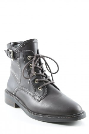 Vince Camuto Lace-up Booties dark brown street-fashion look